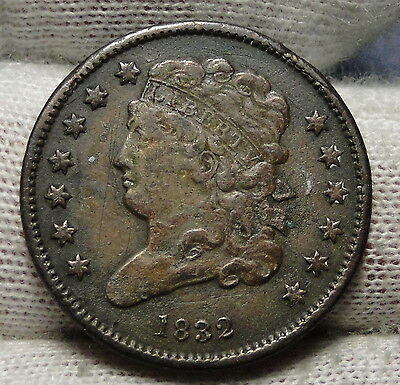 1832 Classic Head Half Cent - Nice Coin - Rare, Only 51,000 Minted (3180)