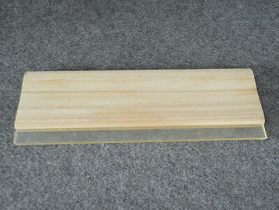 """1 pc Screen Printing 13"""" / 33cm Squeegee Wood Handle Rubber blade Water Based"""