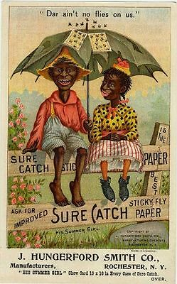 1900's Sure Catch Fly Paper Black Americana Ad NEW! Refrigerator Magnet