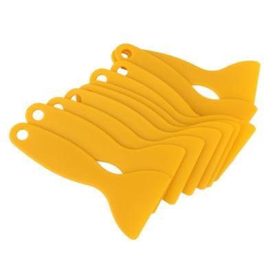10pcs Yellow Vinyl Wrap Film Sheet Wrapping Squeegee Scraper Tool
