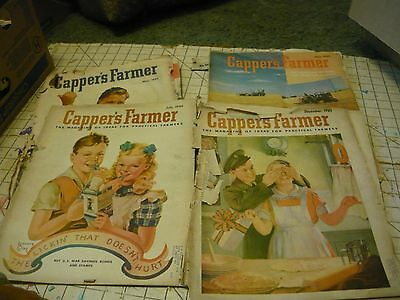 Lot of 4 1942 Capper's Farmer Magazines. Great Ads