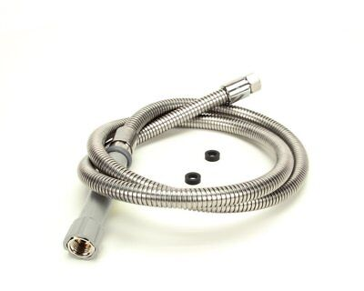 "T&S Stainless Steel Flex 68"" Hose with Gray Handle & Polyurethane Liner B-0068-H"