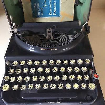 Antique Remington Model 3? Typewriter With Case And Handbook