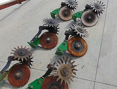 Lot 6 John Deere Double Disc Openers with Row Cleaner Attachment