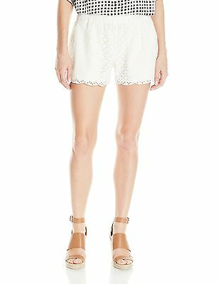 Lucky Brand NEW White Women's Size Large L Pull On Eyelet Shorts $69 #588
