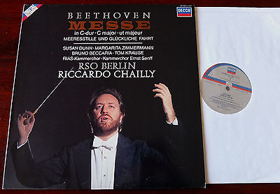Decca 417 563-1 Beethoven Mass In C Major Lp Chailly Nm Dig (1987) Holland