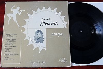 EDMOND CLEMENT SINGS LP SCALA RECORDS 819 EX- FRENCH SINGER EARLY 1900's RECS