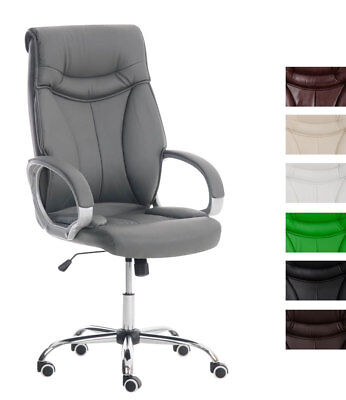 Luxury Office Chair TORRO Computer Desk Swivel Adjustable Faux Leather Iron Seat