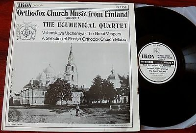 Orthodox Church Music From Finland Lp Ecumenical Ikon Iko 15F