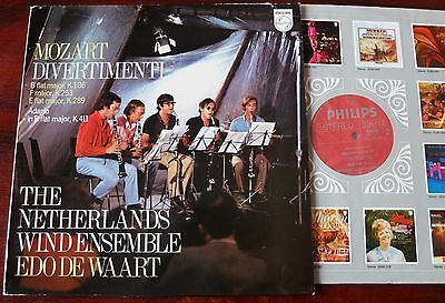 Philips 6500 003 Mozart Divertimenti K186/253/289 Lp De Waart Nm- Holland