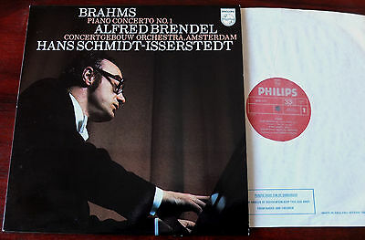 Philips 6500 623 Brahms Piano Conc 1 Lp Brendel Nm England Isserstedt
