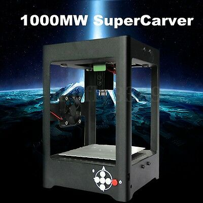 1000mW USB Laser Engraver Printer Cutter Carver DIY Logo Mark Engraving Machine