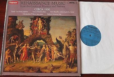 Renaissance Music From Mantua & Ferrara Lp Circa 1500 Chandos Abrd 1110 Nm Dig