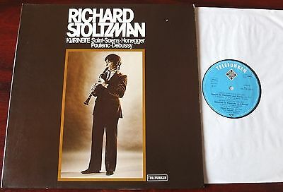 Saint-Saens Honegger Poulenc Clarinet Lp Stozlman Telefunken 6.42614 Nm- Germany