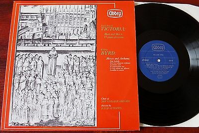 Victoria Byrd Mass Motets Anthems Lp Lumsden Abbey Aby 629 Nm- (1967) Gt Britain