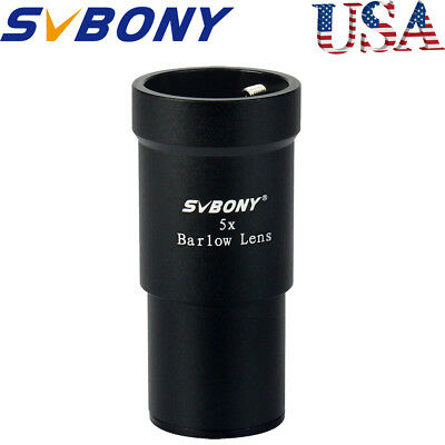 "SVBONY 1.25""(31.7mm) 5X Barlow Lens for Astronomical Telescope Eyepiece AU Ship"