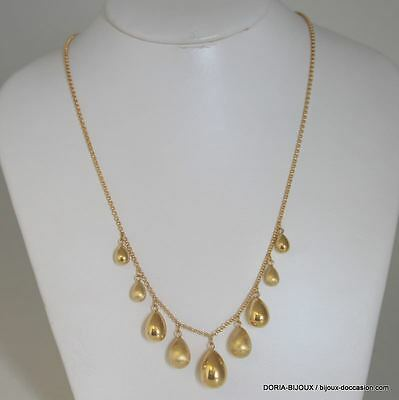 Collier Or 18k, 750/000 Gouttes 8.5grs - Bijoux occasion