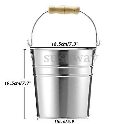 7.7'' Beer Ice Bucket Galvanized Metal Punch Wine Juice Cooler Champagne Party