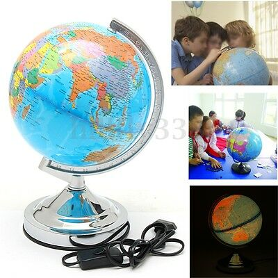20CM World Globe Map Blue Ocean Geography Educational Toy Gift With Swivel Stand