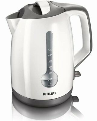 Plastic Kettle, 3000W, 1.7L, Easy Lid & Spout Filling, One Cup Boil, WHIT...