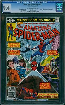 Amazing Spider-Man # 195  The Final Fate of Aunt May !  CGC 9.4  scarce book !