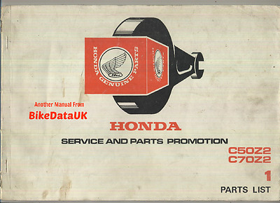 Genuine Honda C50 C70 Cub (1977-on) Parts List Catalog Book Manual C 50 70 Z2 K3