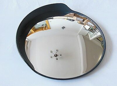 1X New Black 60cm Outdoor Convex Security Safety Mirror