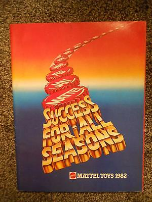 Mattel Success For All Seasons 1982 Toy Fair Catalog Hot Wheels, Barbies Masters