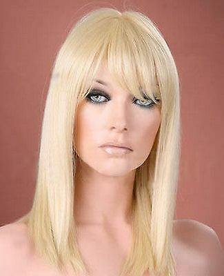 Ladies Long Straight Light BlondeFashion Wig Forever Young Wigs