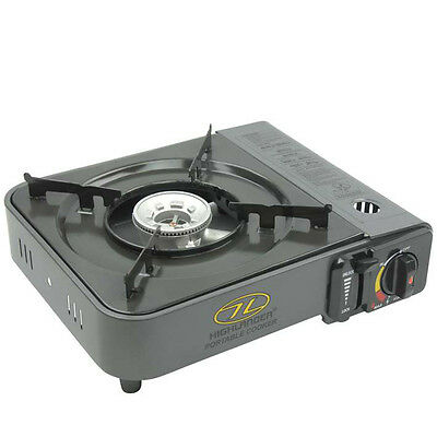 Highlander Portable Camping Gas Stove with Piezo Ignition