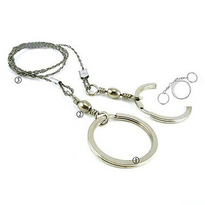 Steel Wire Saw Outdoor Camping Hiking Hunting Fishing Commando Survival Tools