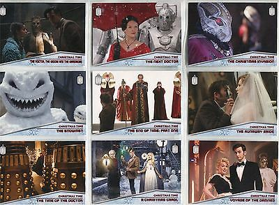 Doctor Who 2015 Complete Christmas Time Chase Card Set CT1-10