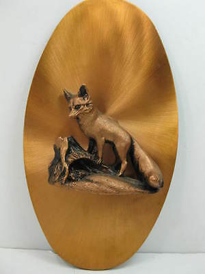 Copperama Parental Pride Fox & Pups Mid Century 3D Raised Relief Wall Plaque