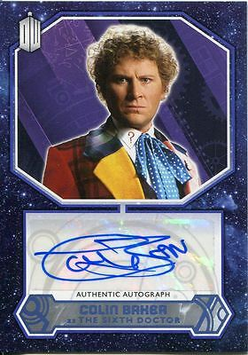 Doctor Who 2015 [Blue][##/50] Autograph Card Colin Baker - 6th Doctor