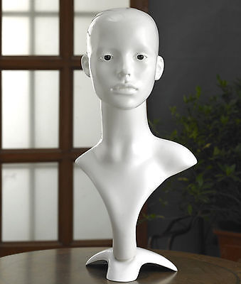 Professional Female Mannequin Head High Quality Model Grace Gloss White