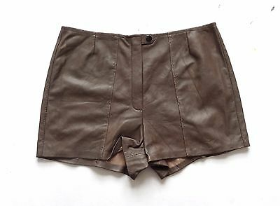 Women's Vintage Remade / Reworked Leather Shorts Retro Boho 14