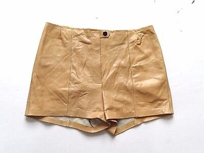 Women's Vintage Remade / Reworked Leather Shorts Retro Boho 12