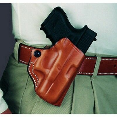 DeSantis 019BAY6Z0 Mini Scabbard Belt Holster Black Leather RH for SCCY CPX-1