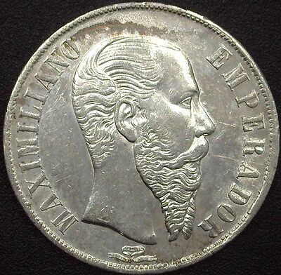 Mexico 1866-Mo Silver Peso  Uncirculated+