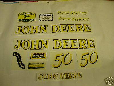John Deere Model 50 Decal Set - NEW FREE SHIPPING