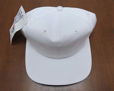 **Vintage** The Game Solid White/ White Blank Snapback Hat New Old Stock W/ Tags