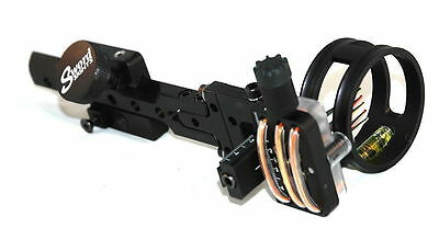 New Sword Apex 3rd Plane Compound Bow Sight 5 Pins (.010) Black Right Hand