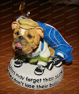 GOLFER Bobble (Zelda Wisdom by Westland, 16623) Bulldog, Old duffers don't lose.