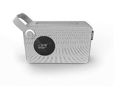 BluMotion Rechargeable Portable DAB Radio White