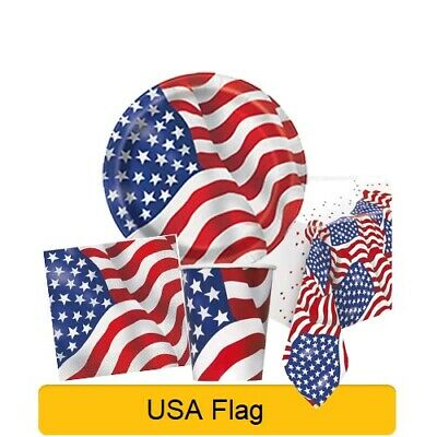 USA AMERICAN Independence Day Party Tableware Disposable Supplies Decorations