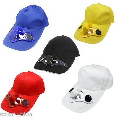 Summer Outdoor Solar Sun Power Hat Cap Cooling Cool Fan for Golf Baseball Sport