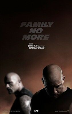 Fate of the Furious / Fast 8 - original DS movie poster - 27x40 D/S 2017 Advance