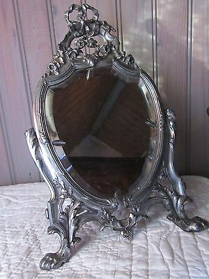 French Antique Regule Classic Style Vanity Table Top Mirror