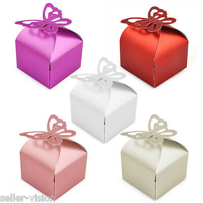 50 Wedding Favour Boxes Bridal Showers Parties Gift Bags Table Decorations Cater