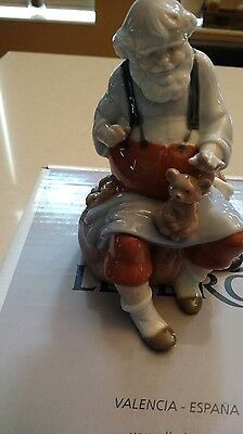 Rare LLadro Santa's Magic Touch, Santa Workshop Great condition in box FREE SHIP